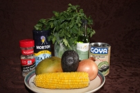Ingredients for Mango Black Bean Salad Copyright by Holly Hedman