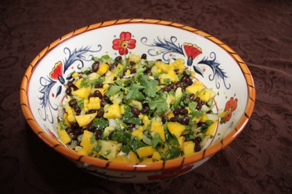 Mango Black Bean Salad Copyright by Holly Hedman