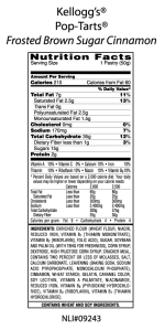 pop tart nutrition